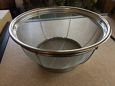 "One Pampered Chef Stainless Mesh Colander - large size 11"" - new in box"
