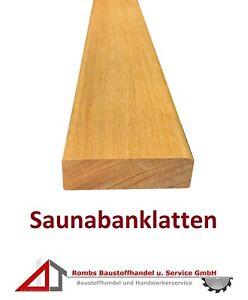Saunabanklatten Saunamatte 9,50€/m Saunaboden Saunaholz Saunazubehör Saunalatten