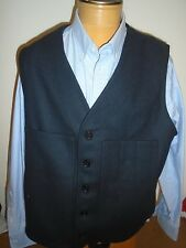Filson 100% Wool Navy Blue Mackinaw Vest NWT Size 50 XXXL $150 Made in USA