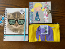 Portable Lucky Cat Notebook Agenda Planner Diary Book Notepad Stationery  Y2