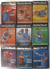 KETTLEWORX KETTLEBELL 9 DVD SETCOLLECTION KETTLEWORKS EXERCISE TV - Like New