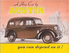 Austin location voiture c1948-49 d'exportation original brochure en anglais pub 530 FX3 taxi