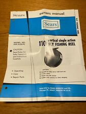 Vintage Sears 110 Fishing Reel Owners Manual, Model No. 535.315070, manual only
