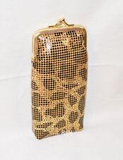 Ultra Mesh 100s Cigarette Case w/LIGHTER POCKET Gold Leopard Pattern KANI100AG