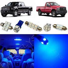 8x Blue LED lights interior package kit 1999-2010 Ford F250 F350 Super Duty FS1B