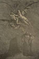 Original Antique 1870's Gustave Dore Engraving Dantes Inferno Hell Demons