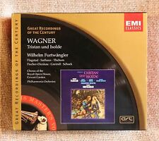 WAGNER TRISTAN & ISOLDE 4 X DISC BOX SET & BOOK - PHILHARMONIC ORCHESTRA - EMI