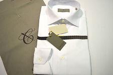 NEW  CANALI Dress Shirt 100% Cotton Size 16 Us 41 Eu White (Store Code 01)