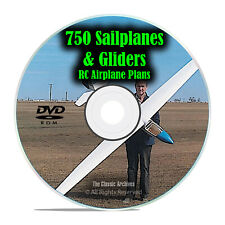 750 Sailplanes & Gliders, Remote Control RC Radio Model Airplane Plans, DVD I22