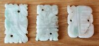 Chinese carved green jade vintage Victorian oriental antique group of counters C