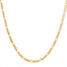 "14K Yellow Gold Link Figaro Necklace Chain For Women Jewelry Men Jewelry 24"" 2mm"