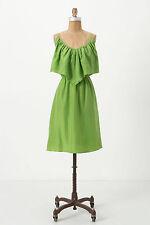 Anthropologie Green 100% Silk Sundress Beach Cocktail Slip Dress By Lil, Size 14