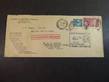 Katapultpost USA 1935, Bremen-Southampton, frankiert mit 3 USA Marken, Hab.202a