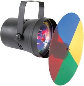Par 36 Pin Spot Light with Moving Colour Wheel red, blue, yellow and green