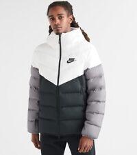 Nike Windrunner Down Fill Hooded Jacket White/Black-Grey 928833-100 Men's XL
