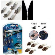 6 Pcs Fix A Zip Zipper Slider Rescue Instant Kit Repair Replacement Accessories