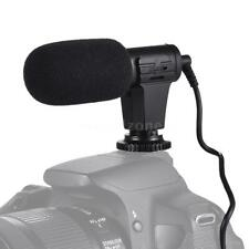 "MIC-06 3.5mm Mini Stereo Microphone Recording Mic for Nikon Canon Sony ""US Ship"""