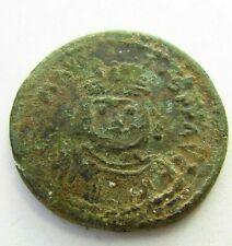 Ancient BYZANTINE BRONZE Follis  Maurice Tiberius  circa 582-602 AD (597)