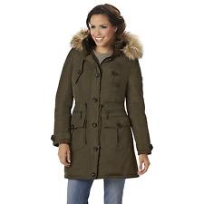 Women's Rocawear Plus Hooded 3/4-Length Parka Olive 2XL #NJHSM-G17
