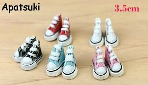 1Pair 3.5cm Fashion Canvas Shoes For Blythe Dolls Causal Shoes For 11.5in Doll