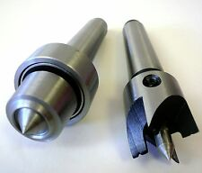 Heavy Duty Wood Lathe Turning Spur & Live Cup Turning Center Set, MT2 Arbor, New
