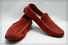Kenzo Mens Shoes Mocassins Red Suede Size Eu 42 Casual Outdoors Loafer Slip