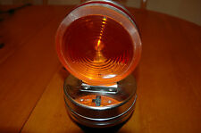 Vintage AMBER/RED Safety Warning Light Caution Roof Wrecker Plow Towing