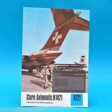 Stern Automatic n 1421 kofferempf. 1976 folleto publicidad dewag RDA radio r121 u