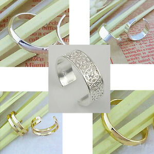 NEW Silver Plating 3mm or 6mm Toe Ring Womens Girls (3 Styles)