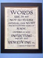 Harry Potter Albus Silente parole sono magiche IDEA REGALO DIZIONARIO ANTIQUARIATO ARTE