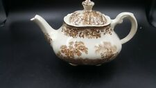 Royal Staffordshire TONQUIN BROWN - Square Teapot w/lid