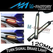 Fit Universel Moto arrière Frein clignotants flexible bande de LED Feux 12cm