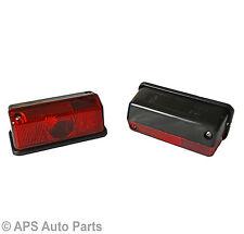 2x rouge côté marqueur frein lampe lumières 12v remorque van caravane tracteur garde boue