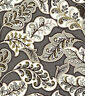 HGTV Home Deco Drama Zinc Cotton Drapery Upholstery Floral Print Fabric BTY Gray