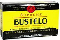 Bustelo Supreme Cuban Coffee - Ground vacuum pack. 10 Oz Free Shipping