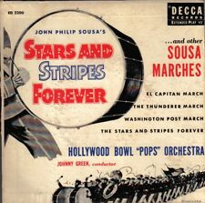 """HOLLYWOOD BOWL ORCH! - """"STARS AND STRIPES"""" DECCA ED-2200 EXT 45 VG+ VPI CLEANED!"""