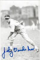 1950's REDS Johnny Vander Meer signed postcard AUTO vintage NO HIT Autographed