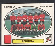 PANINI CALCIATORI FOOTBALL Adesivo 1977-78, N. 216, PERUGIA Team Group