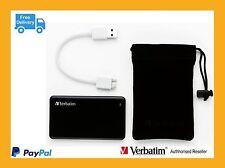 Verbatim External SSD Portable Mobile Storage USB3.0 SSD Drive 256GB  # 47623