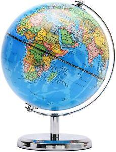Exerz 14cm World Globe Political Map Mini Education Geographic School Home 14cm