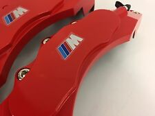///M POWER BRAKE CALLIPER COVER 4PCS RED MODEL BMW M LOGO UNIVERSAL CALIPER