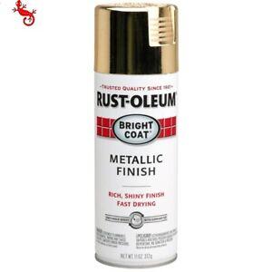 Rust-Oleum Stops Rust Gloss Gold Metallic Spray Paint (NET WT. 11-oz)
