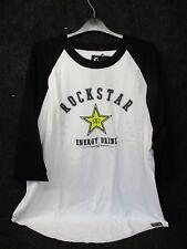 Rockstar Energy Mens Casual motocross/bmx/skate t-shirt white/blk xx/large RC005
