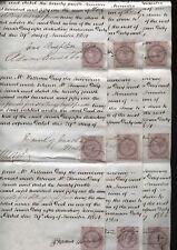 1864 Trustee 9 Settlement Receipts 1d REVENUES Thomas & Sarah Day, Macclesfield