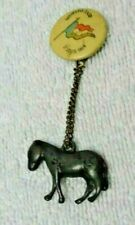 1904 St Louis Exposition Flag Badge With Hanging Metal Mule