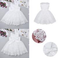 Lace Flower Baby Girls Baptism Christening Dresses Wedding Pageant Tutu Dress
