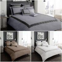 New Signature Victoria Duvet Quilt Cover Bedding Set All Size & Color Polycotton