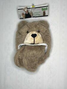 TED Movie Teddy Bear Mascot Plush Animal Cute Costume Cosplay Hat Head Gloves