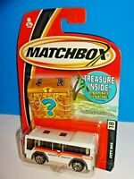 Matchbox 2005 Treasure Bonus Prize Package #18 City Bus White Metro Shuttle