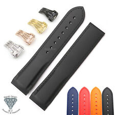 Rubber Watch Band Straps For Omega Seamaster Planet Ocean With Deployment Clasp